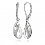 Balia Ohrhänger für Damen matt glanz Zirkonia 925er Silber BAO0032SW
