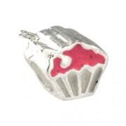 Carlo Biagi Kidz Bead Muffin pink 925 Beads für Armband KBE070