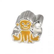 Carlo Biagi Kidz Bead Affe Silber Beads für Armband KBE078
