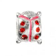 Carlo Biagi Kidz Bead Käfer Silber Beads für Armband KBE082