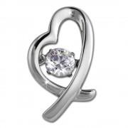 SilberDream Ketten Anhänger Herz Dancing Stone Zirkonia 925er Silber DSH102W
