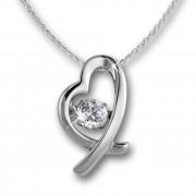 SilberDream Anhänger Herz Dancing Stone mit Kette 925er Silber DSK102W