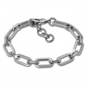 Amello Edelstahl Armband Oval 18,5cm bis 22cm Unisex Stahlschmuck ESAS71J