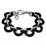 Amello Armband Keramik Ring schwarz Damen Edelstahlschmuck ESAX01S