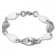 Amello Armband Keramik Welle weiß Damen Edelstahlschmuck ESAX08W