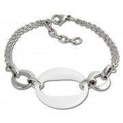Amello Armband Keramik Round weiß Damen Edelstahlschmuck ESAX13W