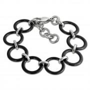 Amello Armband Keramik Circle schwarz Damen Edelstahlschmuck ESAX14S