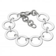 Amello Armband Keramik Circle weiß Damen Edelstahlschmuck ESAX14W