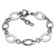 Amello Armband Keramik Kegel weiß Damen Edelstahlschmuck ESAX15W