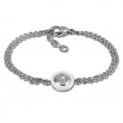 Amello Armband Keramik Rund weiß Zirkonia Damen Edelstahlschmuck ESAX31W8