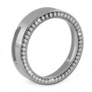 Amello Coinsfassung 30mm Edelstahl für Armband Zirkonia Stahlschmuck ESC021W