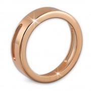 Amello Coinsfassung 30mm Edelstahl rosegold für Armband Stahlschmuck ESC022E