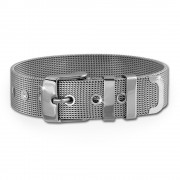 Amello Edelstahl Mesh Armband für Coinfassung 25mm, 30mm Stahlschmuck ESC150J