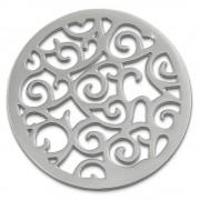 Amello Edelstahl Coin Ornament silber für Coinsfassung Stahlschmuck ESC505J