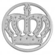 Amello Edelstahl Coin Krone silber für Coinsfassung Stahlschmuck ESC513J