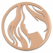 Amello Edelstahl Coin Frau rosegold für Coinsfassung Stahlschmuck ESC518E