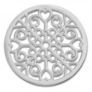 Amello Edelstahl Coin Muster silber für Coinsfassung Edelstahlschmuck ESC523J