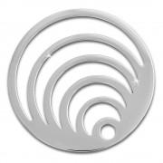 Amello Edelstahl Coin Kreise silber für Coinsfassung Edelstahlschmuck ESC524J