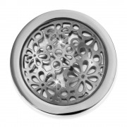 Amello Edelstahl Coin Blumen 25mm für Coinsfassung Edelstahlschmuck ESC631J