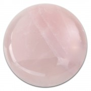 Amello Coin Edelstein Rosenquarz rosa für Coinsfassung Stahlschmuck ESC705A