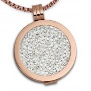 Amello Coins Ketten Set rose Edelstahl Kettenanhänger mit Kette 80cm ESCS04W