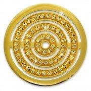 Amello Edelstahl Coin Kreise Zirkonia gold für Coinsfassung Edelstahl ESC534YY