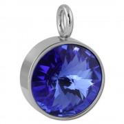 Amello Kettenanhänger Edelstahl Swarovski Elements Zirkonia blau ESHS02B