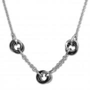 Amello Halskette Keramik Ringe schwarz Damen Edelstahlschmuck ESKX37S5