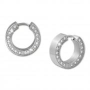 Amello Creole Edelstahl Zirkonia weiß Damen Stainless Steel Ohrring ESOS12W