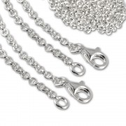 SilberDream Sterling Silber Charm Halskette 2x70cm FC00287-2