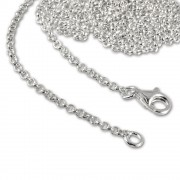 SilberDream Sterling Silber Charm Kette Halskette 50cm FC00295-1