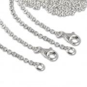 SilberDream 925 Silber Charm Halsketten Set 2x80cm FC00298-2