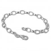 SilberDream 925 Silber Charm Bettelarmband Fußkette 28cm FC0111