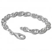 SilberDream Charm Armband Doppelanker 19cm 925 Sterling Silber FC0502