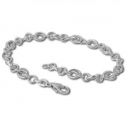 SilberDream Charm Armband Doppelanker schmal 19cm 925 Sterling Silber FC0602