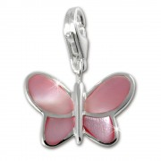 SilberDream 925 Charm Schmetterling pink FC1041P