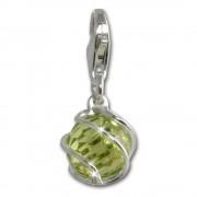 SilberDream Charm Zirkonia Kugel grün Armband Anhänger FC200G