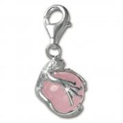 SilberDream 925 Charm Frosch Kugel rosa Armband Anhänger FC244P