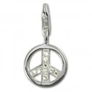 SilberDream 925 Silber Charm Peace Armband Anhänger FC249W