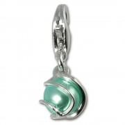 SilberDream 925 Charm Mint grün Kugel Armband Anhänger FC250G