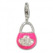 SilberDream 925 Charm Tasche pink Armband Anhänger FC3030P