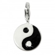 SilberDream 925 Charm YinYang Armband Anhänger FC4113