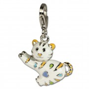 SilberDream 925 Charm Lustige Katze Emaille 925 Armband Anhänger FC644