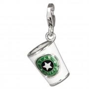 SilberDream Charm Kaffeebecher weiß 925 Silber Armband Anhänger FC666