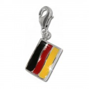 SilberDream 925 Charm Flagge Deutschland Armband Anhänger FC702
