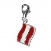 SilberDream 925 Charm Flagge Österreich Armband Anhänger FC704