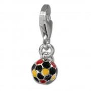 SilberDream 925 Silber Charm Fußball Armband Anhänger FC706