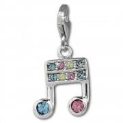 SilberDream Charm Note bunt 925er Silber Armband Anhänger FC882F