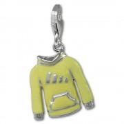 SilberDream Charm Kapuzenpullover gelb 925er Armband Anhänger FC885Y