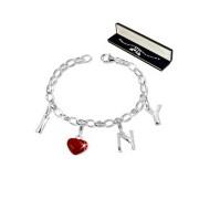 SilberDream Set Silber Charm Armband und Charms Anhänger FCA085